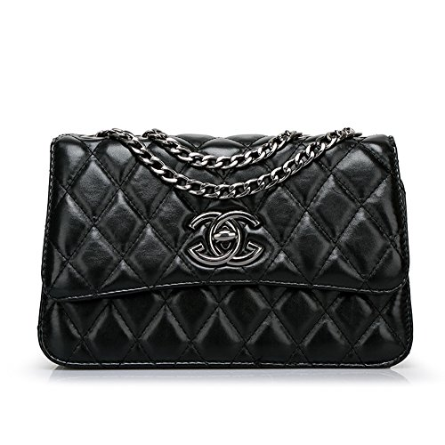 Fashion Pu Leather Clutch Cross-Body Shoulder Wristlet Handbag 0314532 (Black)