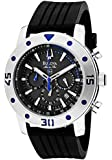 Bulova Men's 98B165 Marine Star Black/Grey Polyurethane Watch