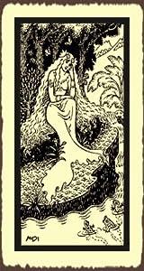 Mermaid At Lake Medieval Metal Art Retro Tin Sign