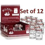 12 Mini Kilner Preserve Jars 70ml