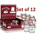12 Mini Kilner Preserve Jars 70ml