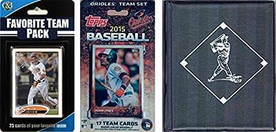 MLB Baltimore Orioles Men's Licensed 2015 Topps Team Set and Favorite Player Trading Cards Plus Storage Album
