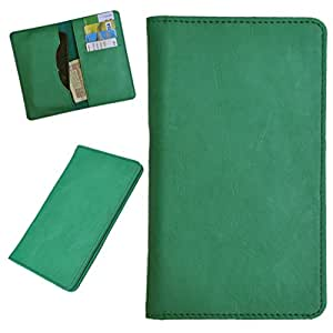 DCR Pu Leather case cover for Karbonn A90 (green)