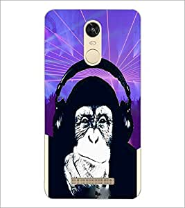 PrintDhaba Funny Chimpanzee D-3976 Back Case Cover for XIAOMI REDMI NOTE 3 (MEDIA TEK) (Multi-Coloured)