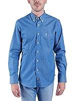 TIME OF BOCHA Camisa Hombre (Azul Medio)