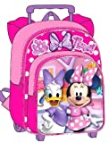 Disney Minnie Mouse Rolling Toddler Backpack - 12 Inch Wheeled Kids Backpack