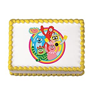 Amazon.com: Yo Gabba Gabba Edible Cake Topper: Kitchen ...