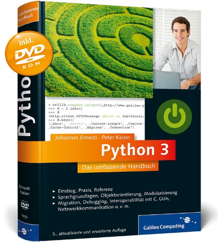 Book downloading pdf Python 3   Das umfassende Handbuch 9783836214124  by Ernesti J, Kaiser P English version