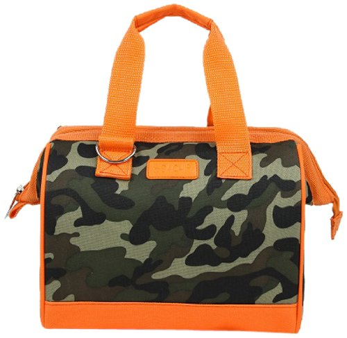 Sachi Fun Prints Insulated Lunch Tote, Style 34-230, Green Camo - 1