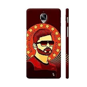 Colorpur King Virat Kohli Designer Mobile Phone Case Back Cover For OnePlus 3 | Artist: Sangeetha