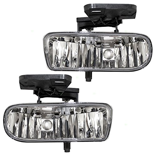 Driver and Passenger Fog Lights Lamps Replacement for GMC Pickup Truck SUV 10385054 10385055 (Fog Lights 2005 Yukon compare prices)