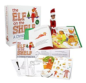 The Elf on the Shelf: A Christmas Tradition with Blue Eyed North Pole Pixie-elf with Bonus 42 Page Official Activity Book