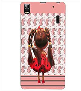 PrintDhaba Cute Doll D-3217 Back Case Cover for LENOVO A7000 (Multi-Coloured)
