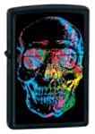 Zippo X-Ray Skull Lighter - Black Matte