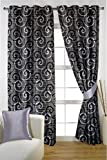 HOMEC Decorous Jacquard Curtain Set of 2 (Size - Window 46 X 60 inch/Color - Gray)