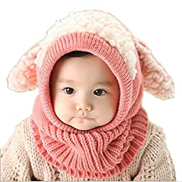 PanDaDa Baby Girls Boys Winter Hat Scarf Woolen Earflap Hood Scarves Skull C...