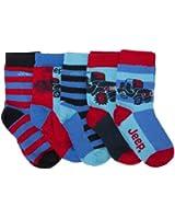 Liquidation: Chaussettes JEEP pour bébé couleur rouge et bleu (lot de 5 paires)