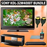 Sony Bravia M-Series KDL-32M4000/T 32-inch 720P LCD HDTV (Brown) + Sony DVD Player w/ TV Stand Acces