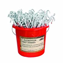 Texsport Aluminum Tent Stakes (200-Piece) with Bucket, 7-Inch