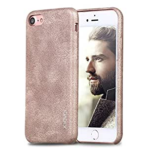 iPhone 7 Case,X-Level [Vintage Series] PU Leather Luxury Back Cover for iPhone 7(2016) 4.7 Inch (Gold)