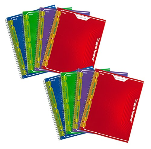 mead-trapper-keeper-snapper-trapper-8-pocket-portfolio-95-x-1188-x-25-inches-assorted-pack-of-8-7304