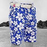 Royal & Awesome 36 Hawaii Blue Hawaii Five Oh! Men's Loud Golf Shorts