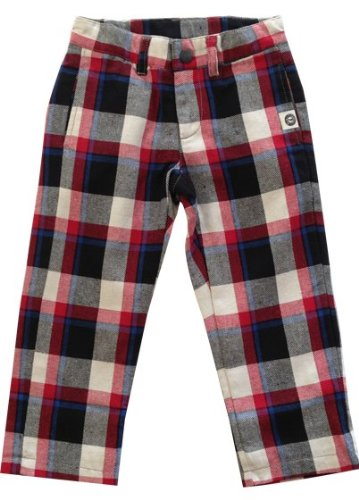 Mini Shatsu Boys Plaid Pencil Pants - 6 - Red front-801480