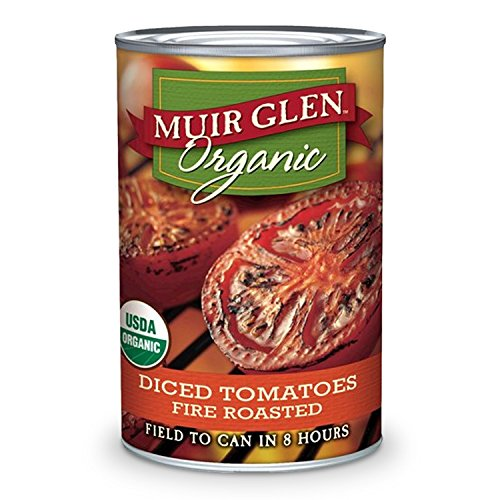 Muir Glen Organic Diced Tomatoes, Fire Roasted, 14.5 oz, 12 Pack (Muir Glenn Tomatoes compare prices)