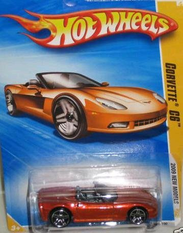 Hot Wheels 2009-003 New Models Corvette C6 1:64 Scale - 1