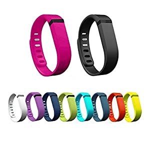 Replacement Bands with Clasps for Fitbit Flex Only /No Tracker/ Wireless Activity Bracelet Sport Wristband Fit Bit Flex Bracelet Sport Arm Band Pack of 10