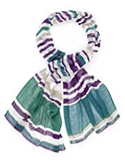 Classic Collection Lightweight Palma Striped Scarf
