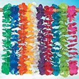 Mega Plastic Lei assortment (100 plastic flower leis)