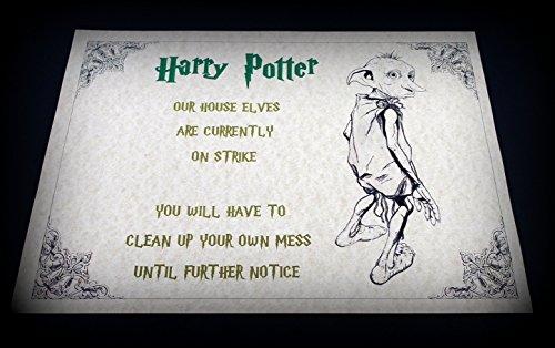 Personalised Harry Potter Hogwarts, tessuto quadrettato tipo ratiera in confezione regalo, un Must per ogni fan, un regalo personalizzato, nome-Poster con stampa artistica, formato A4, spedizione rapida