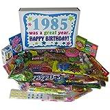 80s Retro Nostalgic Candy Decade 30th Birthday Gift Box: Born 1985