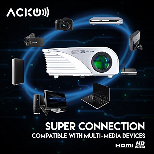 Acko Portable Mini Led Projector Office Home Theater 1200