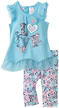 (必买)漂亮宝宝2件套Young Hearts Baby-Girls Infant Love Print $8.82