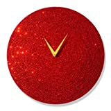 "Mebelkart ""Red Crystal Dial"" Wall Clock"