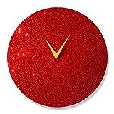 "Mebelkart ""Red Crystal Dial"" Wall Clock"