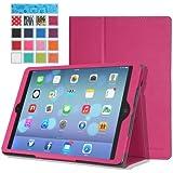 MoKo Etui Apple iPad Air (5th Gen) - Etui fin et pliable pour Tablette Apple iPad Air (5ème génération) Tactile Retina 9.7 pouces, VIOLET (Avec couverture intelligente réveil/sommeil automatique )