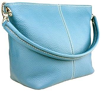 DELARA kleiner Ledershopper, Farbe: Himmelblau