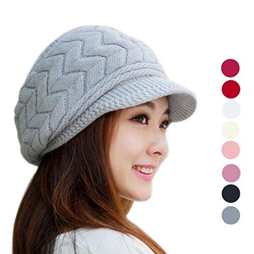 Bonnet-Femme-Koly-Mode-fminine-Hat-hiver-skullies-Bonnets-Chapeaux-Tricots-Rabbit-Fur-Cap