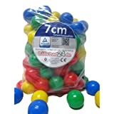 100 Stück Bällebad Bälle 7cm in Kindergarten & Gewerbequalität Babybälle
