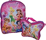 "Disney Fairies Tinkerbell & Friends 16"" Backpack W/ Detachable Lunch Box"