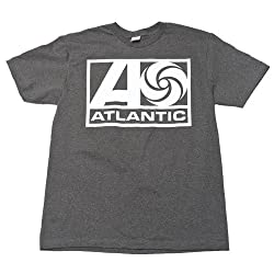 Atlantic Records - Swirl Logo Mens Slim Fit T-Shirt