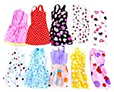 #3: Idream 10Pcs Multicolor Handmade Party Dress Fashion Clothes For Barbie Doll Play House