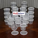 Reditainer 16 oz. Deli Food Containers w/ Lids - Pack of 36 - Food Storage
