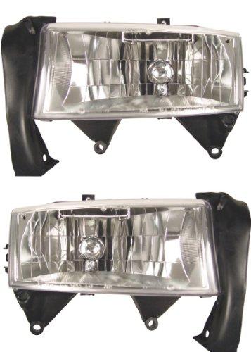 98 99 00 Ford Ranger  Crystal Euro Headlights Head lamp