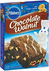 Pillsbury Chocolate Walnut Brownie Mix, 13.5-Ounce Boxes (Pack of 12)