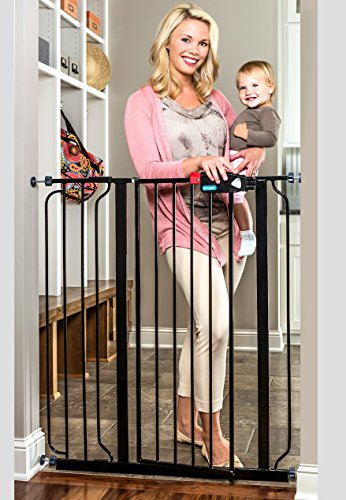 Regalo Deluxe Easy Step Extra Tall Gate, Black (Extra Tall Pressure Mount Gate compare prices)