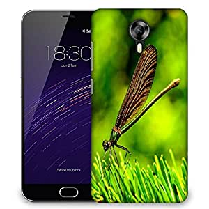 Snoogg Dran6n Fly On Grass Designer Protective Phone Back Case Cover For Meizu M2